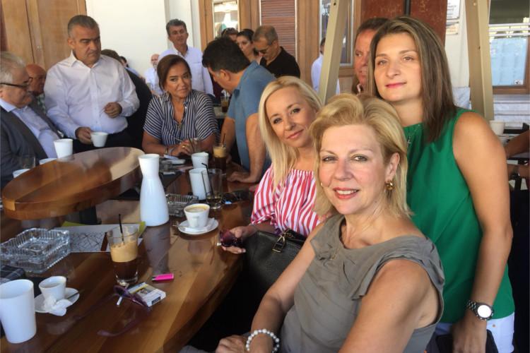 ΔΕΘ 2018-Ολύμπιον Θεσσαλονίκη-Πλατεία Αριστοτέλους-Θ Οικονόμου με κα Όλγα Λιάπη και κα Βαλαντία Τσέπη