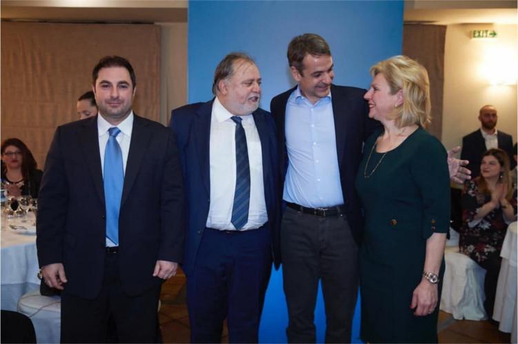 Επίσκεψη του προέδρου της ΝΔ στο Καρπενήσι στην κοπή της πίτας ΝΟΔΕ Ευρυτανίας 05