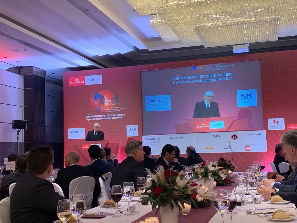 Στο δείπνο του Economist ο Πρόεδρος της Δημοκρατίας κ Προκόπης Παυλόπουλος