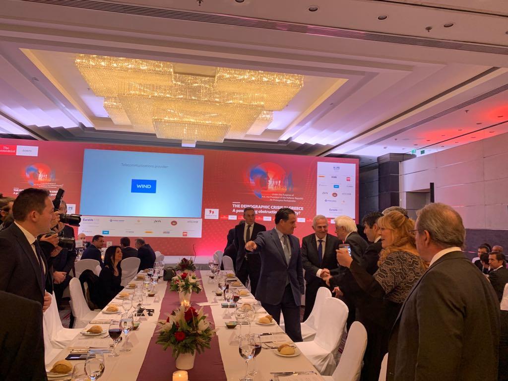 Στο δείπνο του Economist ο Υπουργός Ανάπτυξης και Επενδύσεων κ Άδωνις Γεωργιάδης 2