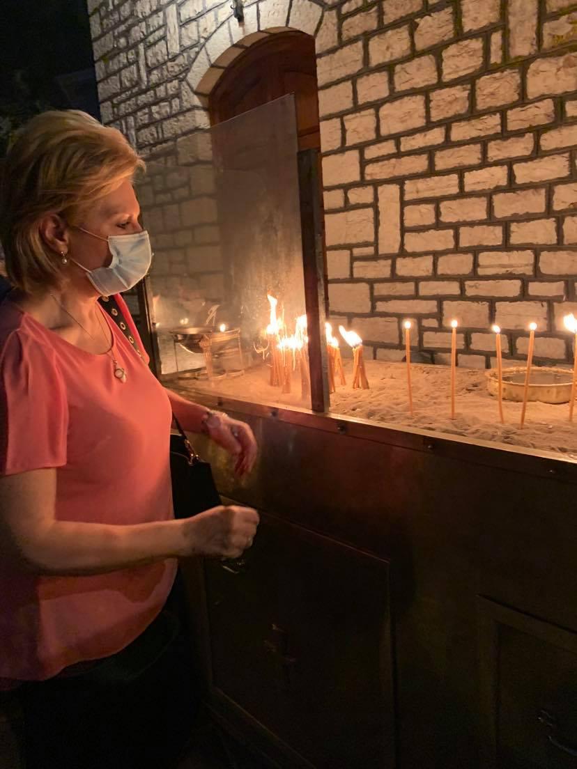 Στον Εσπερινό της Ι Μ Προυσού παραμονή της μεγάλης εορτής της Παναγίας της Προυσιώτισσας 3 Θωμαΐς Οικονόμου