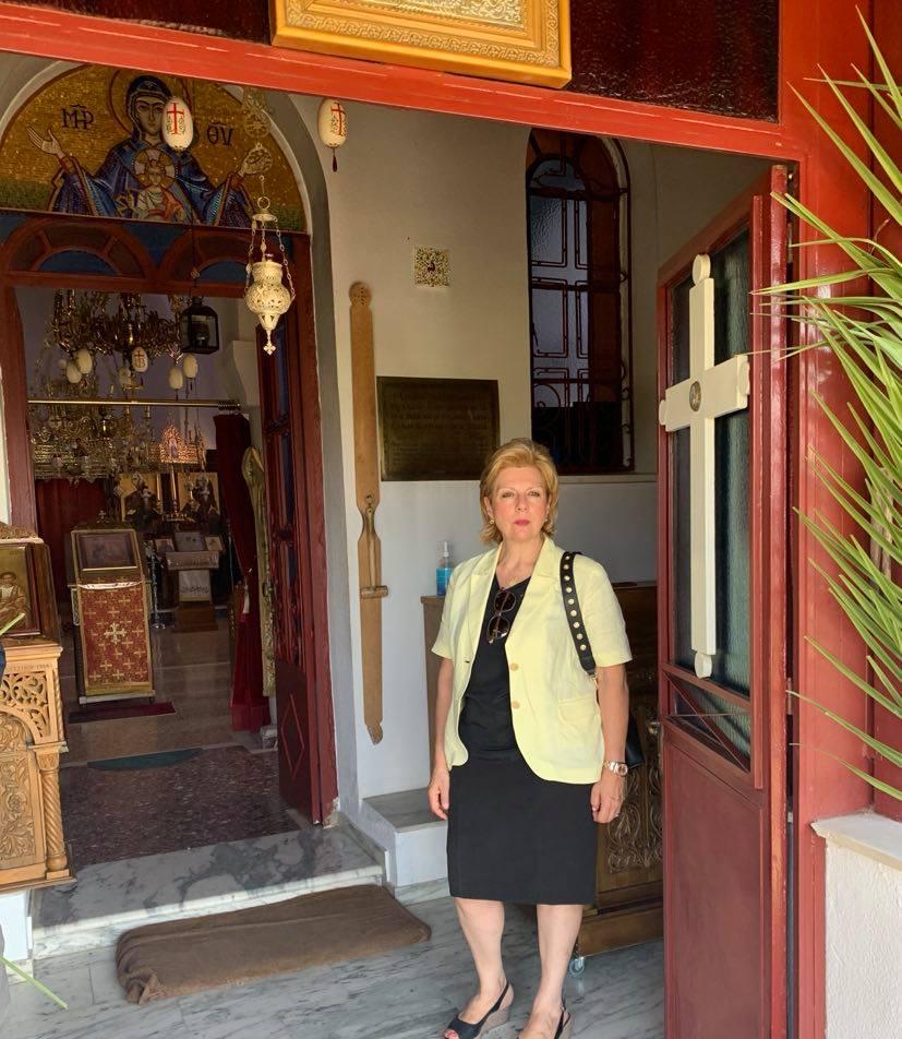 Στη Μονή Τατάρνας στην Ι. Μ. Παναγίας της Τατάρνας στις 8-9-2020 Θωμαΐς Οικονόμου